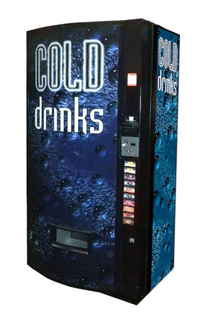 Refurbished Vendo 511 Can/Bottle Soda Machine - Cold Drink Bubbles