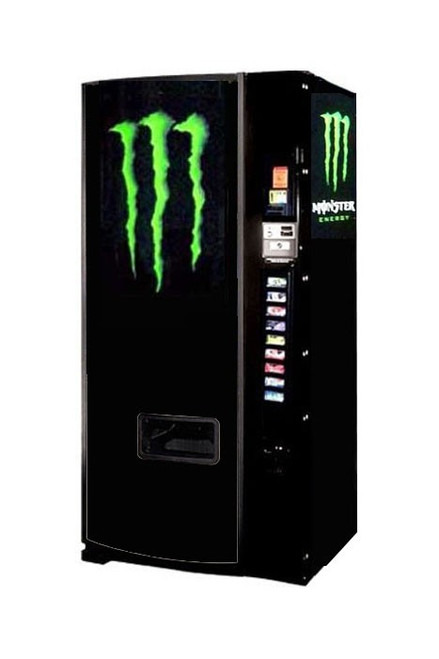 Refurbished Dixie Narco 600E Can/Bottle Soda Machine - Monster Energy