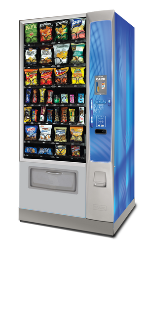 New Crane Merchant Media Ambient Snack Machine - Narrow