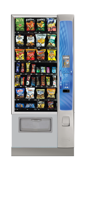 New Crane Merchant Media Ambient Snack Machine - Narrow