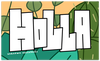HOLLA rectangle sticker - SHIPS FREE