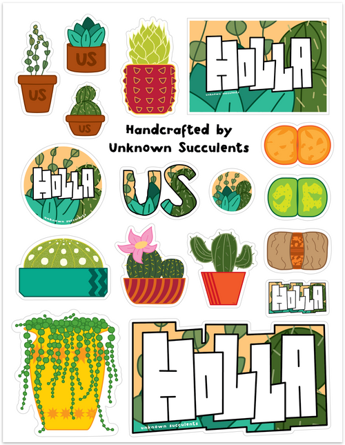 Handcrafted Sticker Sheet - SHIPS FREE