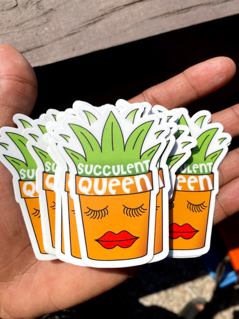 Succulent Queen sticker (ships free)