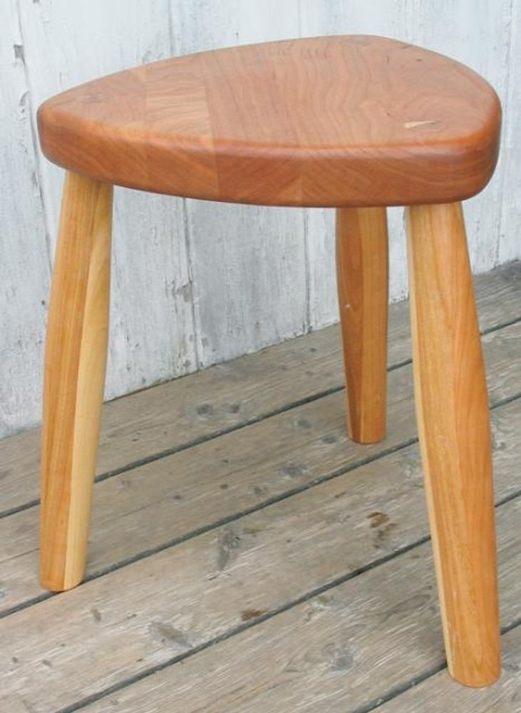 Cherry Three Legged Stool