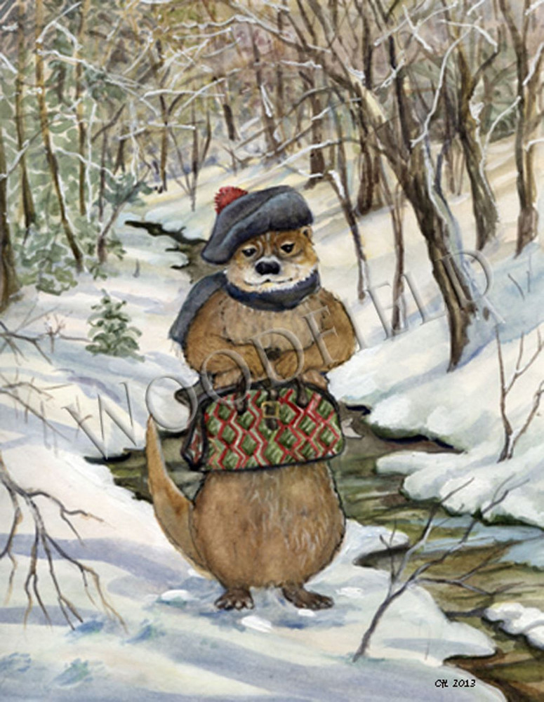 Every winter Otter travels upstream to visit his dear cousin.  Always a thoughtful guest, he brings his own fish to share.
