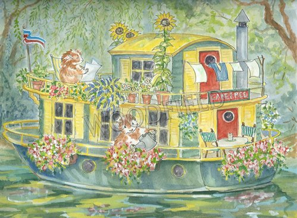 There was a small house in a shady bend in the river where Mr. and Mrs. Guineapig could be found in the summertime.