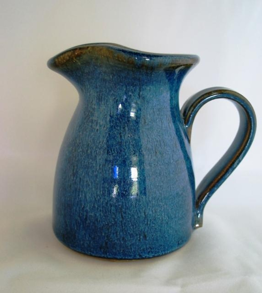 Small Pitcher in Bird's Beak Blue glaze.