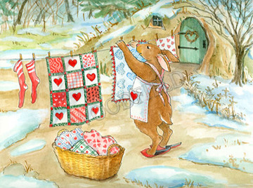 Rebecca loved hearts. On washdays her line was dotted with bright bits of red waving like brave flags in the breeze.