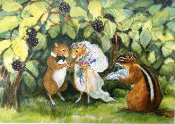 "The two mice were pronounced ""Mouse and Wife"" by the chipmunk who lived under the blackberry bramble."