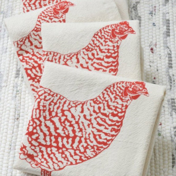 Hand-printed Napkins