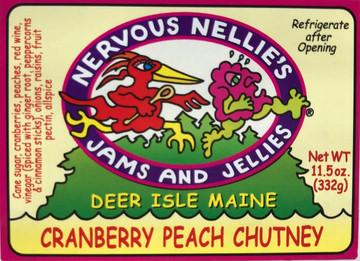 Cranberry Peach Chutney