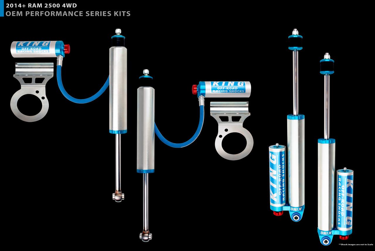 """2.5"""" Diameter Front Remote Reservoir Shocks For 14+  Ram 2500 ( 4WD )"""