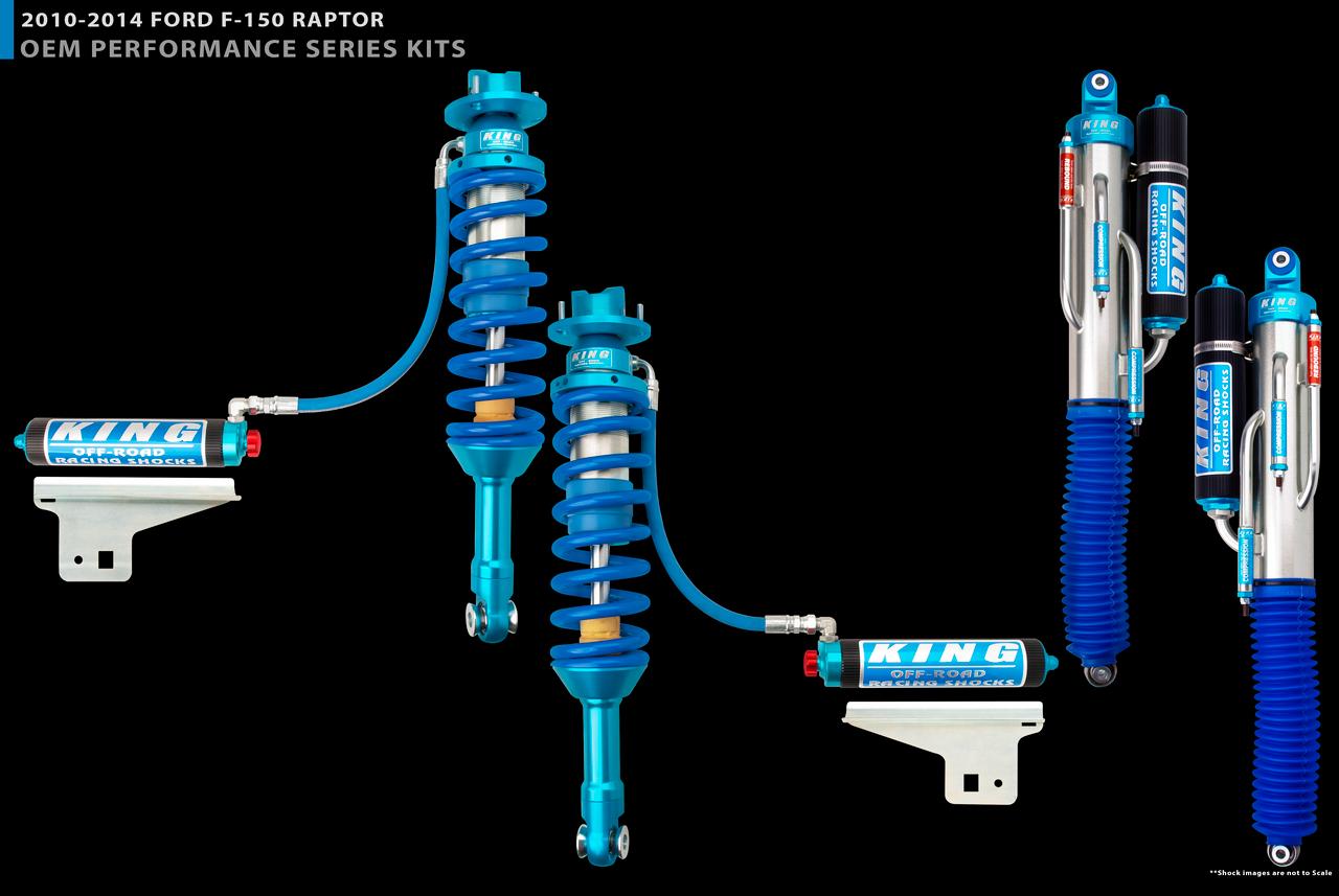 """3.0"""" Diameter Rear 3 Tube Bypass Piggyback Shock For 10-14 Ford Raptor ( 4WD )"""