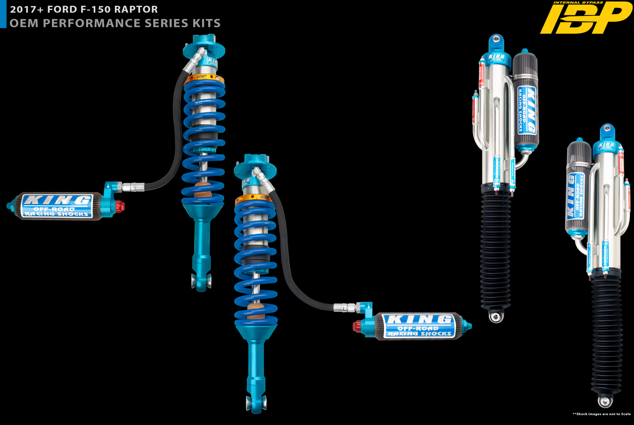"3.0"" Diameter Rear 4 Tube Bypass Piggyback Shock With Finned Reservoir For 2017+  Ford Raptor ( 4WD )"