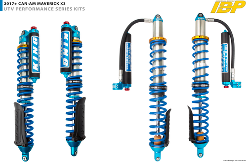 """2.5"""" Diameter Front Piggyback Reservoir IBP Coilover With Compression Adjusters & Finned Reservoir For 2017+ Can Am X3 ( 72"""" Wide ) ***Sold Individually***"""