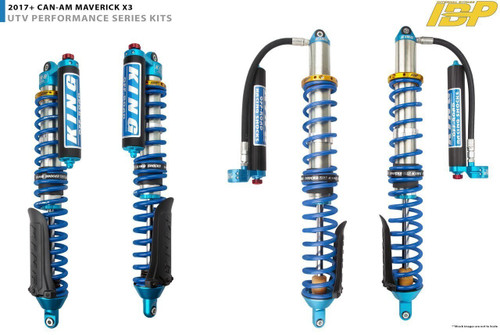 """2.5"""" Diameter Front Piggyback Reservoir IBP Coilover With Compression Adjusters & Finned Reservoir For 2017+ Can Am X3 ( 64"""" Wide ) ***Sold Individually***"""