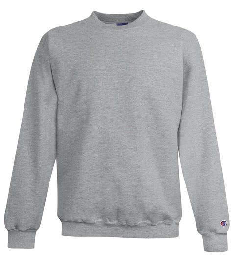Light Steel Front Champion S600 Powerblend Eco Fleece Crew Sweater | Athleticwear.ca