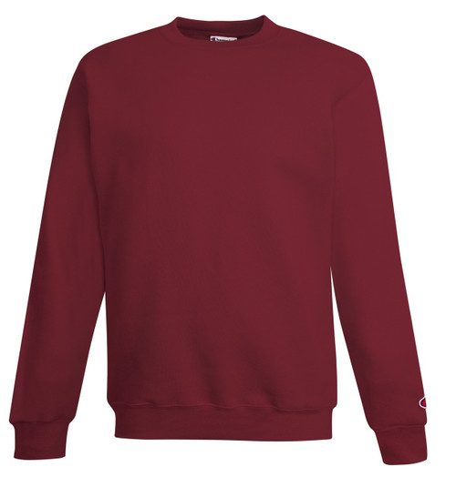Maroon Heather Front Champion S600 Powerblend Eco Fleece Crew Sweater | Athleticwear.ca