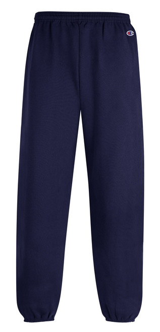 Navy Front Champion P790 Youth Powerblend Eco Fleece Closed Bottom Pant | Athleticwear.ca