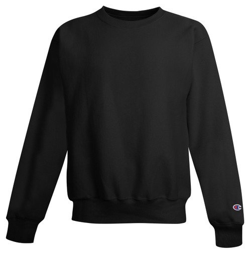 Black - Champion S149 Reverse Weave Fleece Crew | Athleticwear.ca