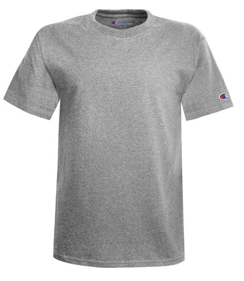 Light Steel Front Champion T425 Short Sleeve Cotton T-Shirt | Athleticwear.ca