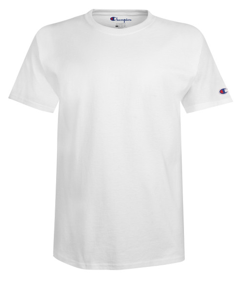 904b191ab00 ... White Front Champion T425 Short Sleeve Cotton T-Shirt