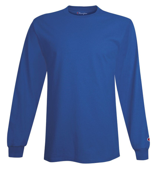 Royal - Champion CC8C Long Sleeve Cotton Tee Sweatshirt | Athleticwear.ca
