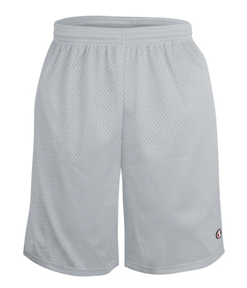 Athletic Grey - S162 Adult Mesh Short w/ Pockets 9"