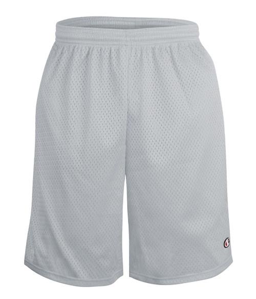 """Athletic Grey - S162 Adult Mesh Short w/ Pockets 9""""   Athleticwear.ca"""