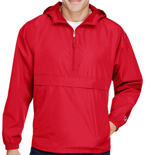Scarlet- CO200 Adult Packable Anorak Jacket | Athleticwear.ca