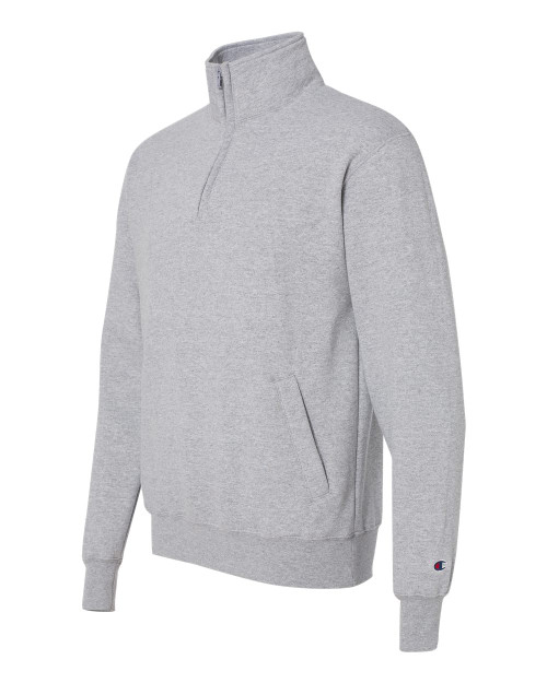 Light Steel - S400 Adult Powerblend ECO 1/4 Zip Fleece | Athleticwear.ca