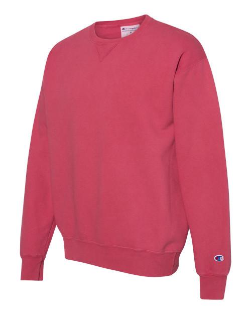 Crimson -  CD400 Adult Garment Dyed Fleece Sweatshirt   Athleticwear.ca