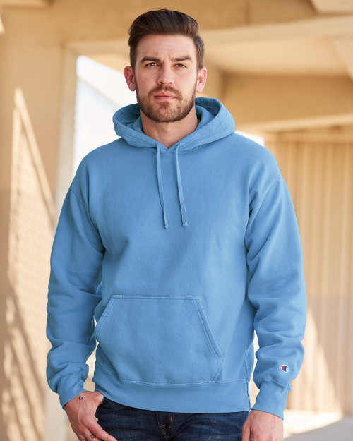 Delicate Blue - CD450 Adult Garment Dyed Fleece Hoodie | Athleticwear.ca