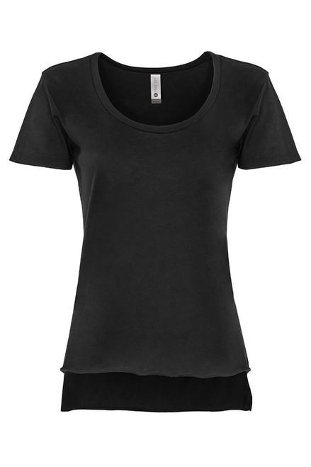 Black - 5030 Women's Festival Scoop Tee | Athleticwear.ca
