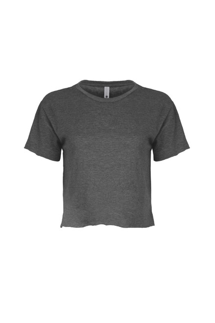 Charcoal - Women's Festival Cali Crop Tee | Athleticwear.ca