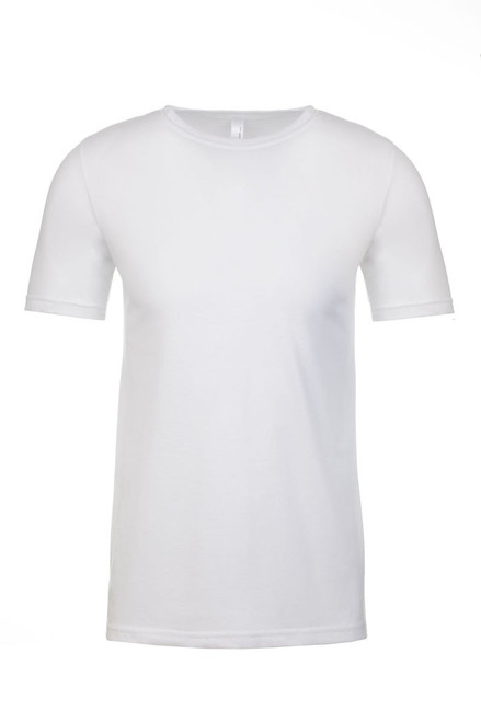 White - Men's Polyester/Cotton Crew Neck Tee | Athleticwear.ca