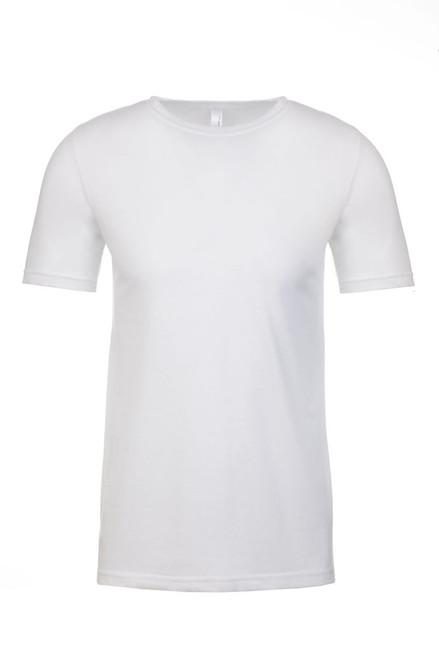 White - Men's Polyester/Cotton Crew Neck Tee | Athleticwear.ca