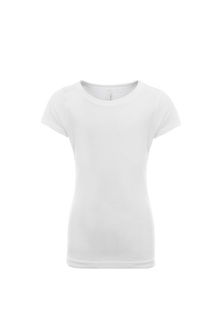 White - 3710 Girl's Youth Princess Tee | Athleticwear.ca