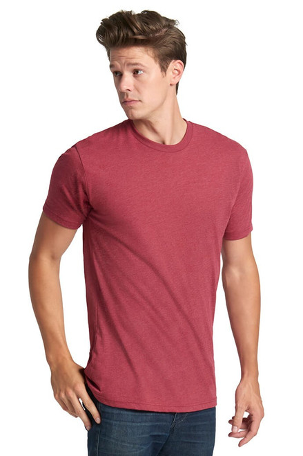 Cardinal Red - 6210 Men's Premium Fitted CVC Crew Neck Tee | Athleticwear.ca