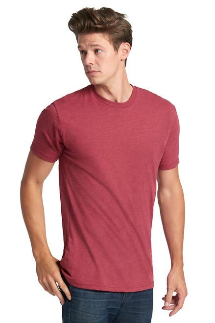 Cardinal Red - 6210 Men's Premium Fitted CVC Crew Neck Tee   Athleticwear.ca
