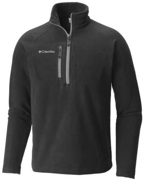 Black - C1982MF Adult Fast Trek III Half Zip Fleece Jacket | Athleticwear.ca