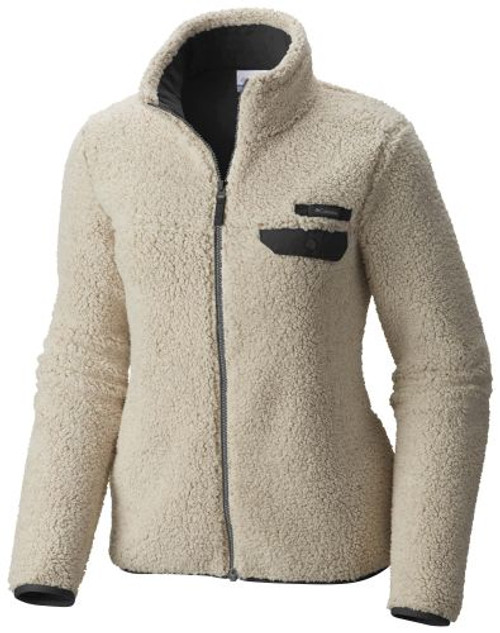 Chalk Heather/Grill - C1861WF Women's Mountainside Heavyweight Fleece Full Zip Sweater | Athleticwear.ca
