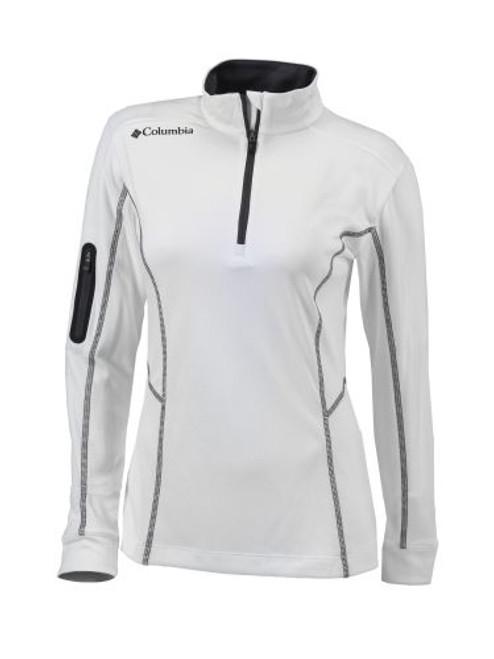White - 16S61WL - Women's Omni-Wick Shotgun 1/4 Zip Shirt | Athleticwear.ca