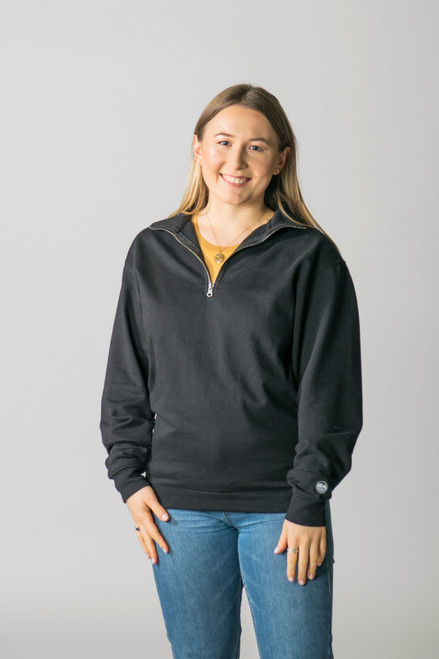 Black - T2000 - Timberlea Unisex 1/4 Zip Sweater | Athleticwear.ca