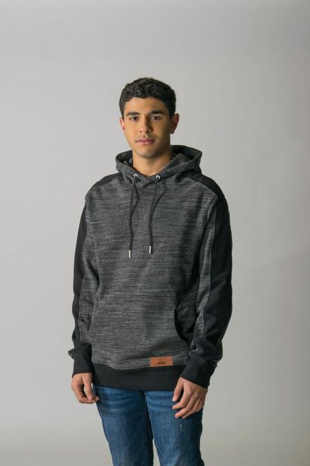 Charcoal/Melange Black - T2002 Timberlea Unisex Fleece Colourblock Hoodie | Athleticwear.ca