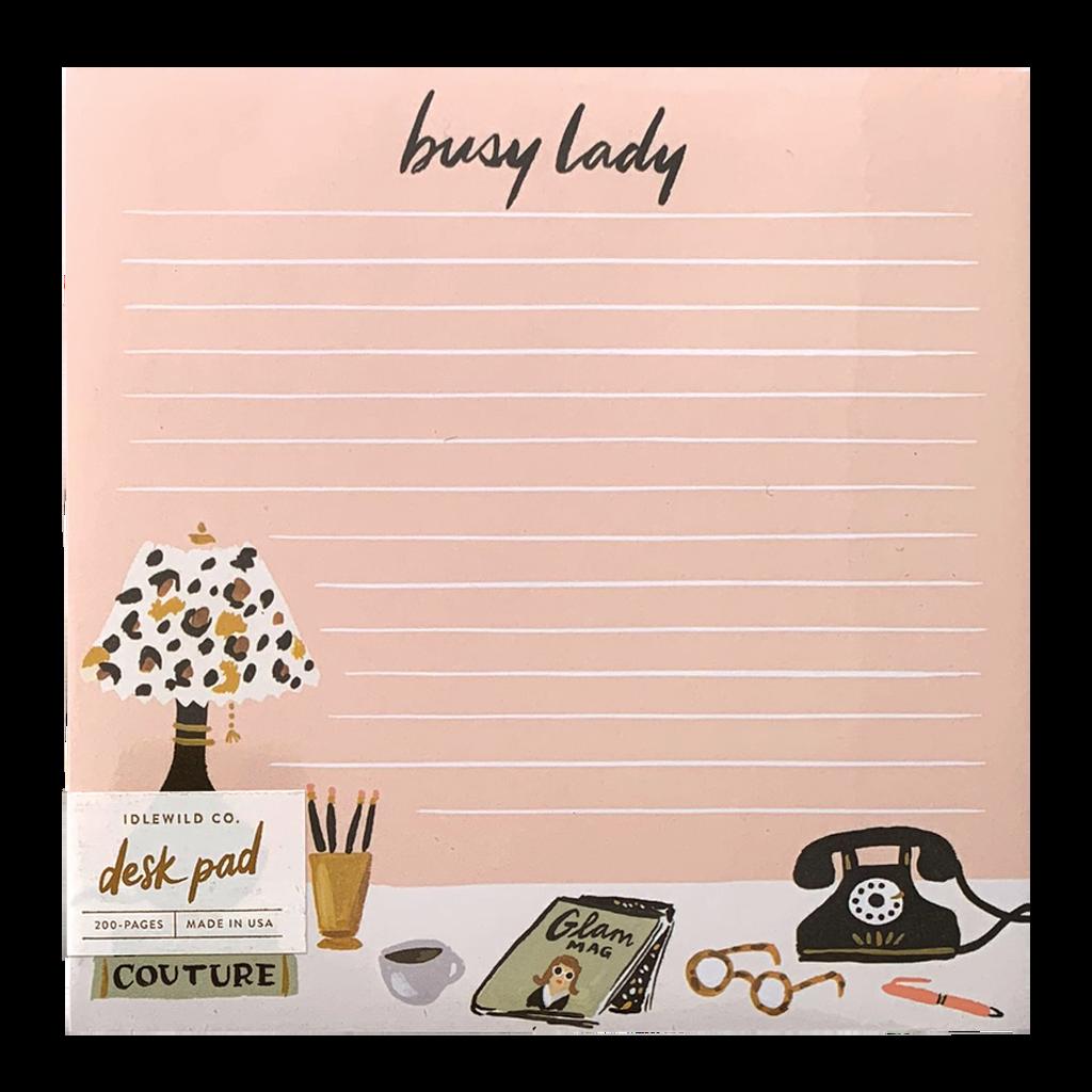 Busy Lady Desk Pad