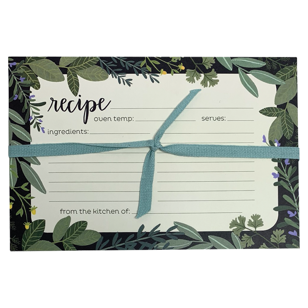 Herb Border Recipe Cards