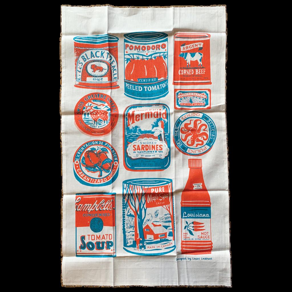 Tins Tea Towel