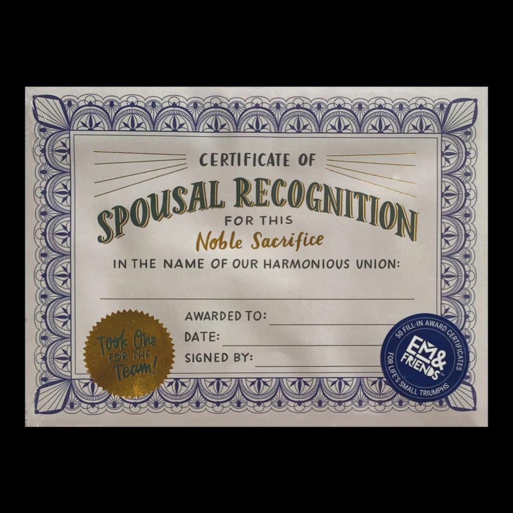 Spousal Recognition Award
