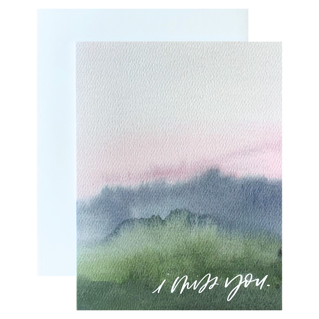 I Miss You Watercolor